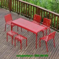 bàn ghế quán trà đỏ