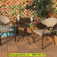 bàn ghế cafe giả gỗ