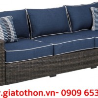 Bộ sofa nhựa giả mây 5 chỗ hiện đại