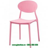 ghế xếp nhựa cao cấp màu hồng