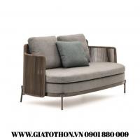 sofa nhựa giả mây