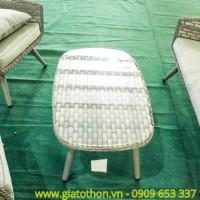 sofa nhựa mây trắng cao cấp