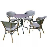 Bàn ghế  cà phê khung nhôm lưới textilen