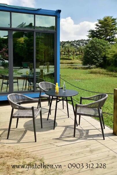 bàn ghế nhựa mây đẹp
