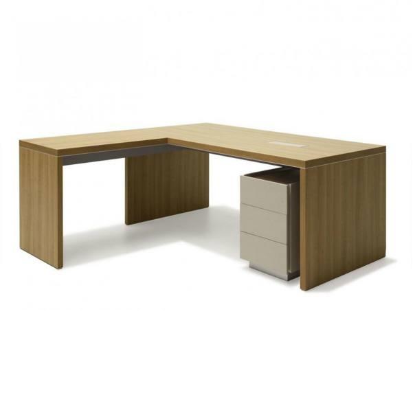 Bàn gỗ chữ l [văn phòng] có ngăn kéo