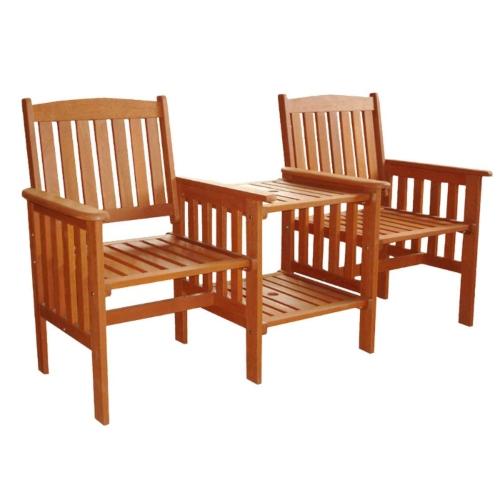 Bộ bàn ghế gỗ ngoài trời 02