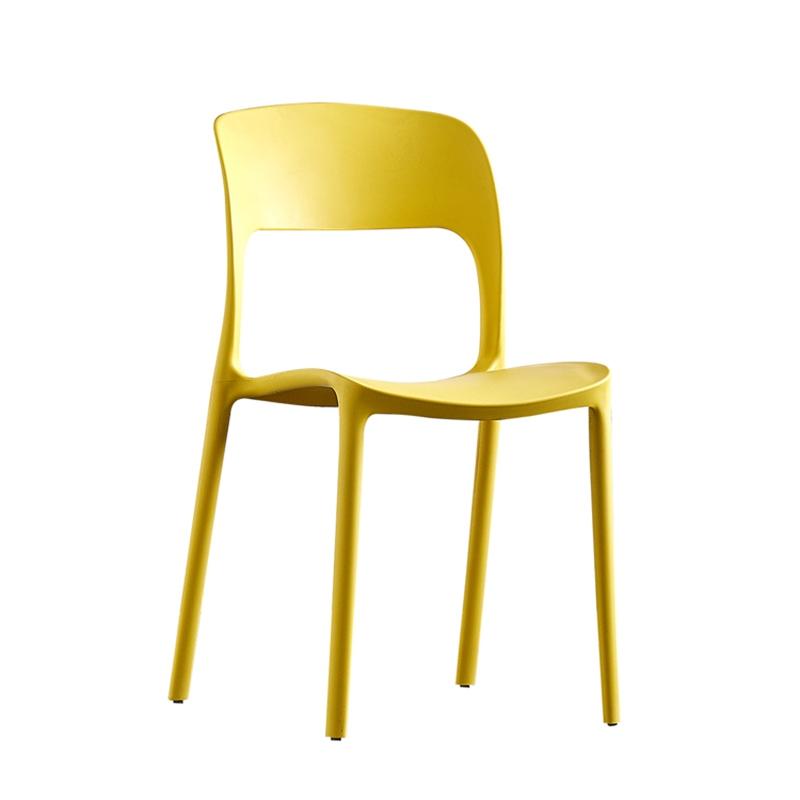 Ghế nhựa màu vàng 03