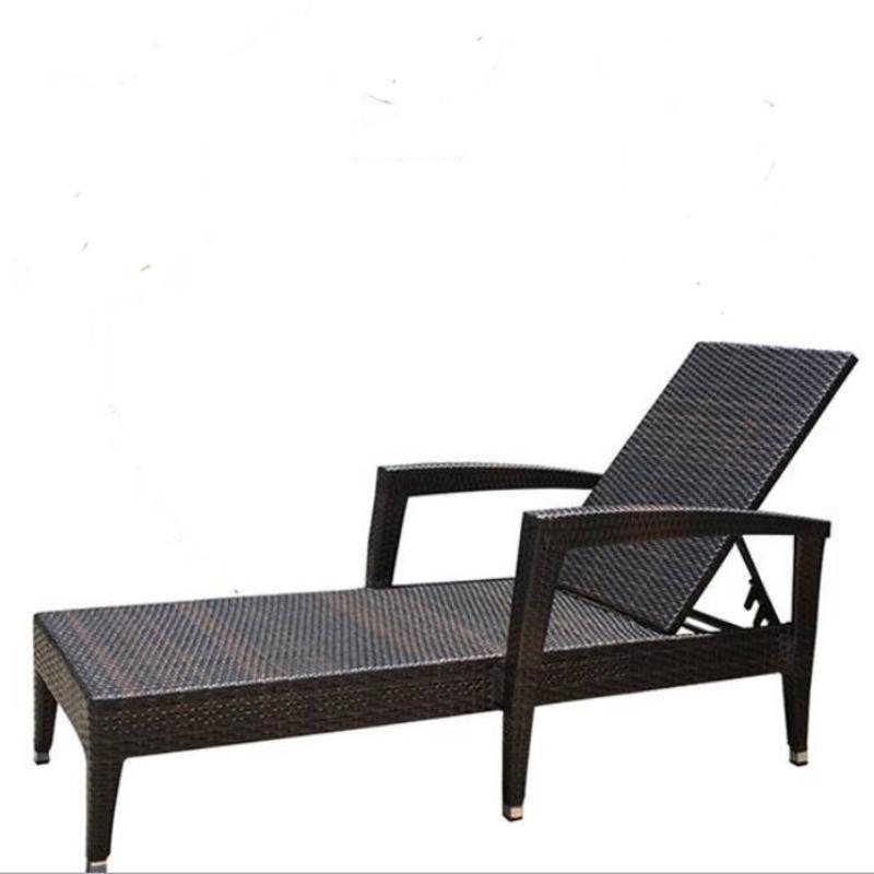 Ghế tắm nắng nhựa mây 01