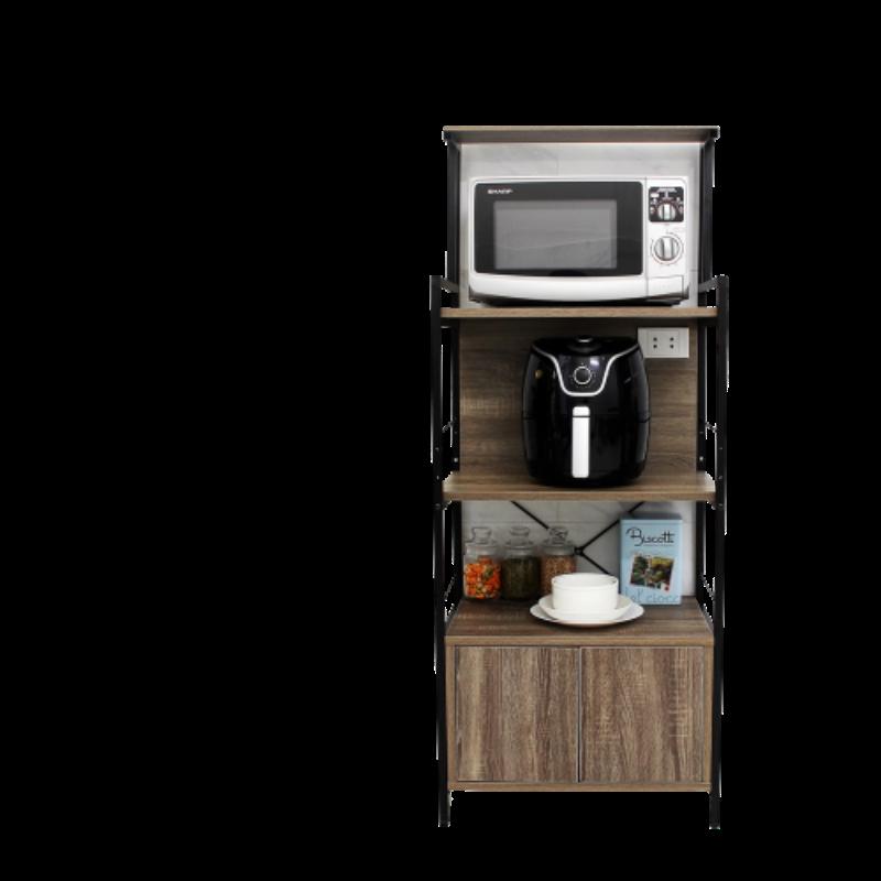 Tủ bếp gỗ đẹp có kệ 5 tầng tiện dụng